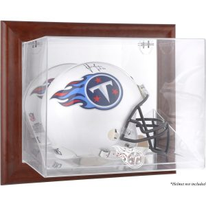 Tennessee Titans Fanatics Authentic Brown Framed Wall-Mountable Logo Helmet Case