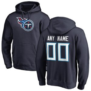 Tennessee Titans NFL Pro Line Any Name & Number Logo Personalized Pullover Hoodie