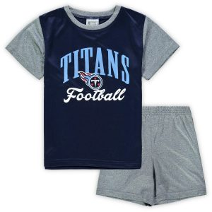 Tennessee Titans Toddler Two-Piece Victory Script T-Shirt and Short Set