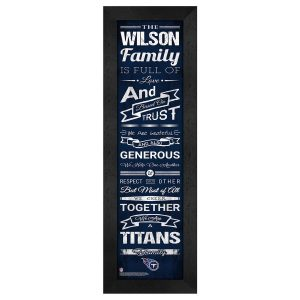 Tennessee Titans Personalized Family Cheer Framed Print