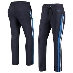Tennessee Titans WEAR By Erin Andrews Women's Track Pants – Navy